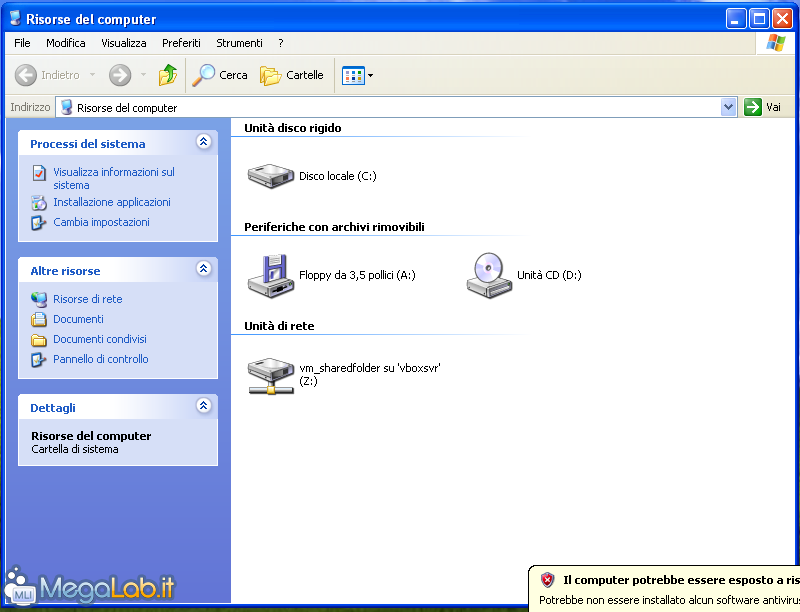 hard disk risorse del computer